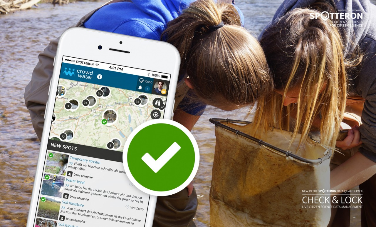 A new feature for a better data quality in Citizen Science Apps: Check & Lock