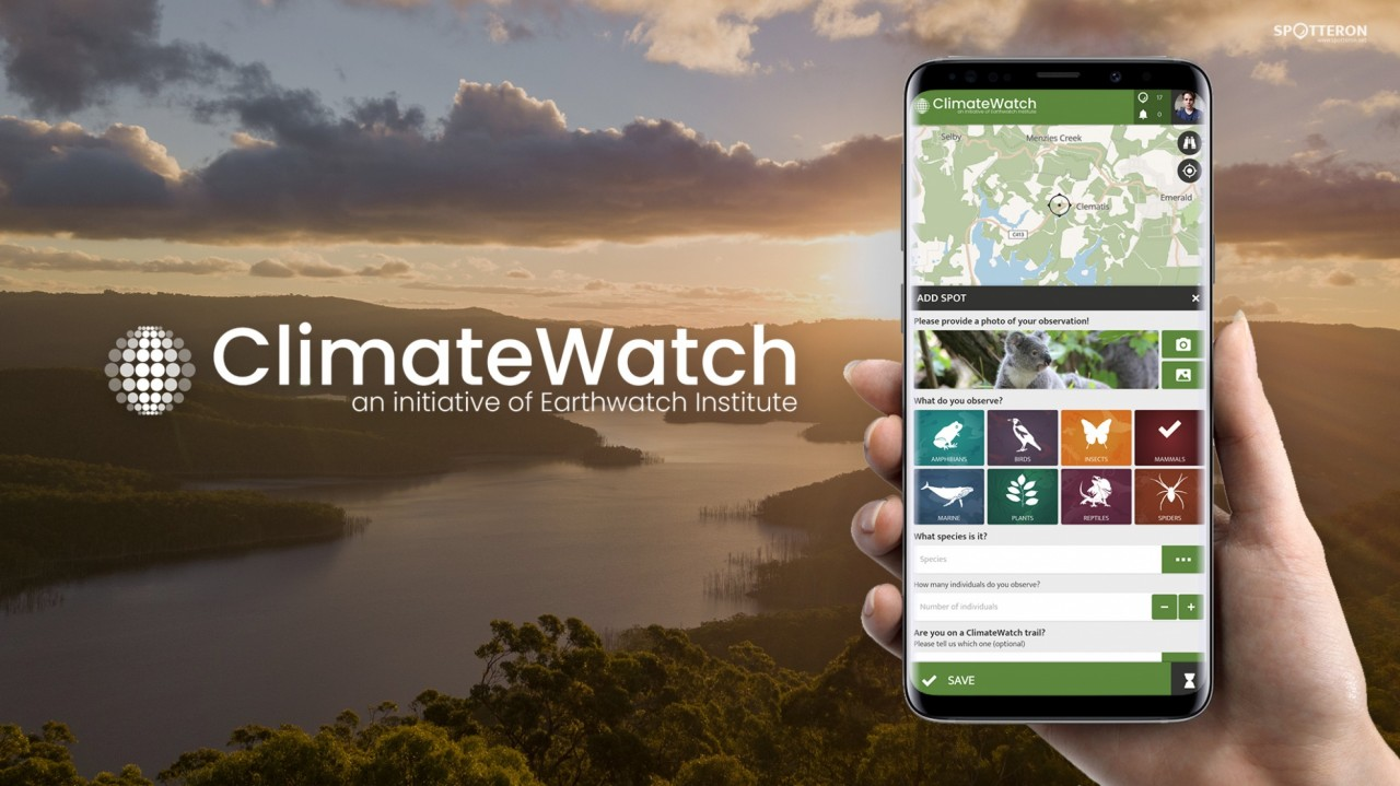 New on the SPOTTERON Platform: ClimateWatch - a Citizen Science App for Climate Research