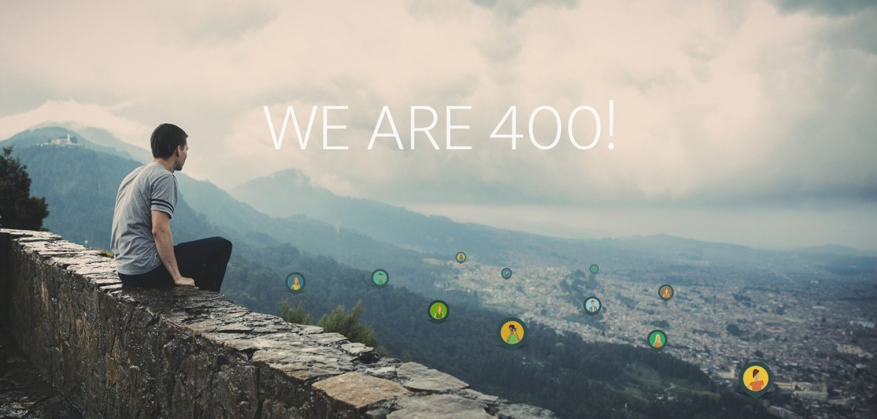 400 registered users